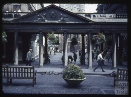 Entrance to Abbey Church Yard, Bath Abbey, 1965