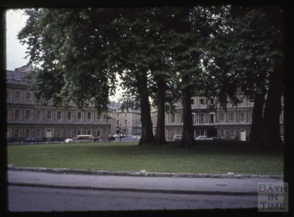 The Circus, Bath, looking towards Bennet Street, 1965