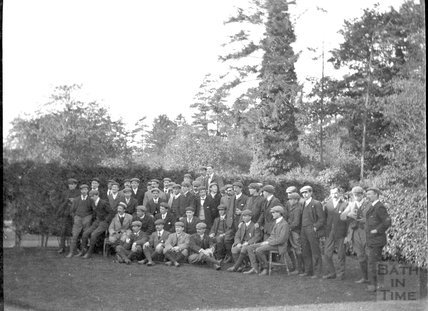 Bath Cycling Club on an outing c.1900s