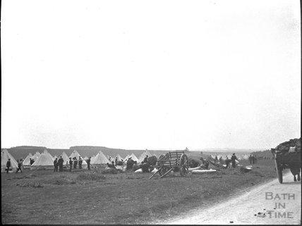Military camp on Salisbury Plain, c.1900s