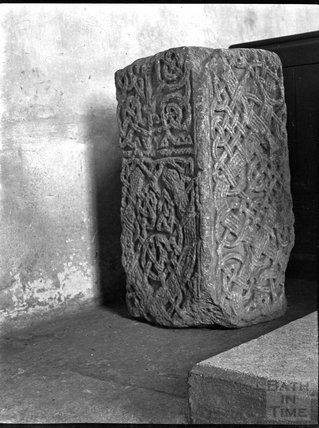 Base of Celtic stone cross, West Camel, Somerset c.1900s