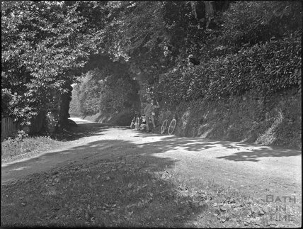 Rustic archway in unidentified location, thought to be Stourton, c.1900s