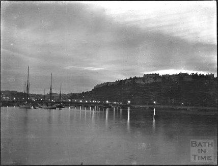Dusk, Torquay harbour, c.1920s