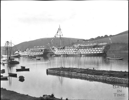 Converted timber ships, Dartmouth c.1900s