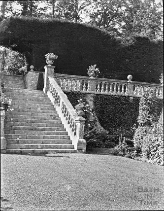 Garden steps at St Catherine's Court, c.1910