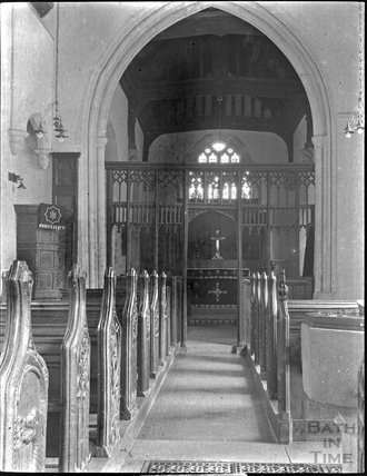 Interior of All Saints, Alford, Somerset c.1900s