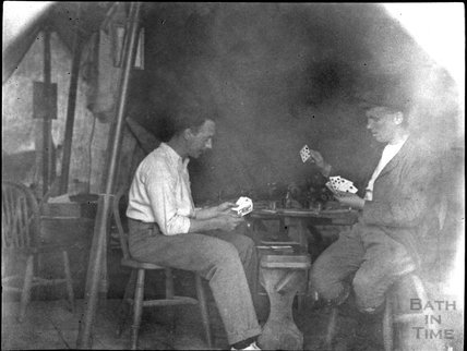Playing cards at Military camp on Salisbury Plain, c.1900s