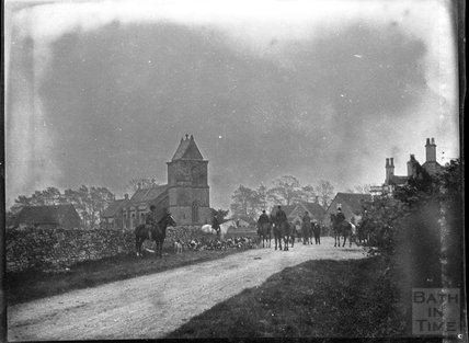 The hunt at South Wraxall, c.1900s