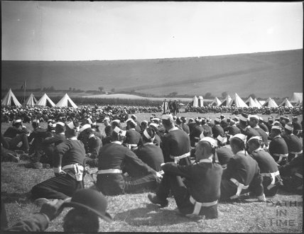 Military camp, Ballard Down, Dorset, c.1910s
