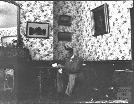 George Dafnis in his sitting room, c.1900s