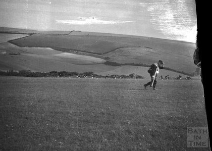 Military exercise, Salisbury Plain?, c.1910s