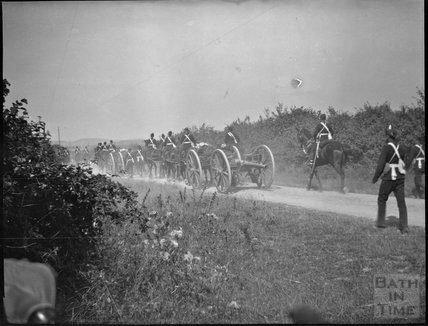 Military exercise, unidentified military camp, c.1910s