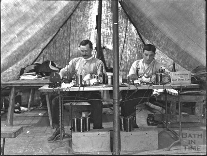 Telegraphers at East Down military camp, 1904