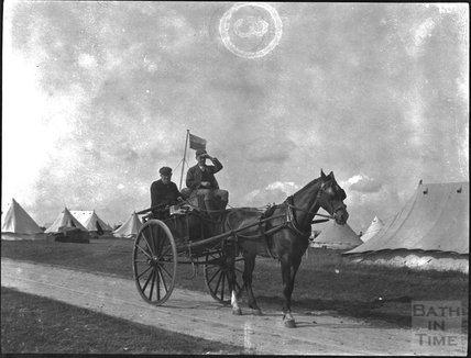 Military camp, probably on Salisbury Plain, c.1900s