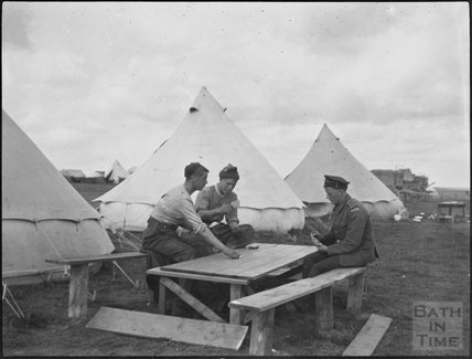 Off duty, unidentified military camp, c.1900s