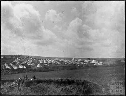 Military camp at Ballard Down, Dorset, c.1900s