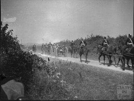 Military exercises, Ballard Down, Dorset, c.1910s