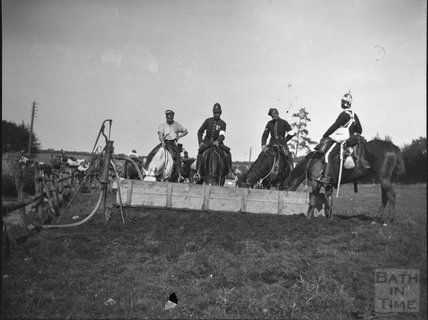 Horse trough at an unidentified military camp, c.1910s