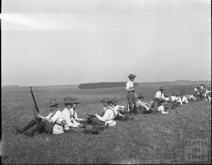 Exercise at an unidentified military camp, c.1900s