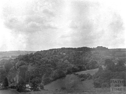 View from Summer Lane to Midford Castle, c.1900s