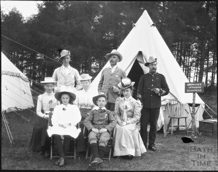 Ordnance Officers' Quarters, unidentified military camp, c.1900s