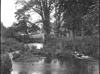 Unidentified bridge & stream, c.1910