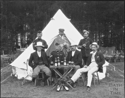 Group shot, unidentified military camp, c.1900s