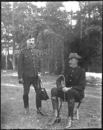 Officers, unidentified military camp, c.1900s