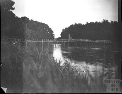 The bridge over Orchardleigh Lake, c.1900s