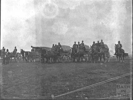 Wagons at an unidentified military camp, c.1900s