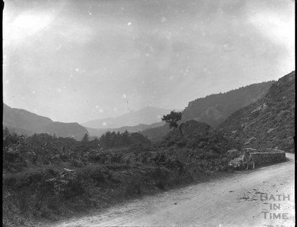 View of the Lledr Valley in North Wales between Betws y Coed and Dolwyddelan just east of Pont y Pant, c.1900s