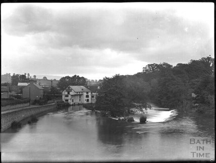 Ludford mill and weir, River Teme, Ludlow, Shropshire, c.1900s