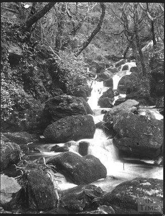 Unidentified rocky stream, possibly the Lyn, near Lynmouth, c.1900s