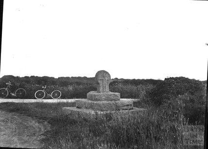 Wayside cross near St Buryan, Cornwall, c.1900s