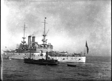 Unidentified US Navy warship, c.1900s