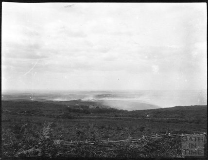 Smoke from a heath fire, unidentified location, c.1900s