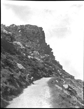 Unidentified hillside path, c.1900s
