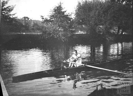 Solo rower, Bathwick, c.1900s