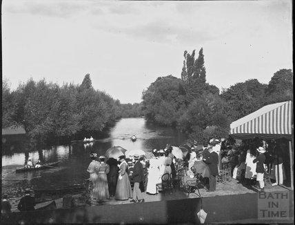 Rowing event on the Avon, Bathwick, c.1900s