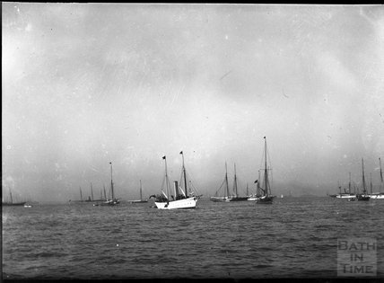 Ships at anchor, c.1900s