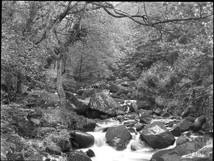 Unidentified rocky stream, c.1900s