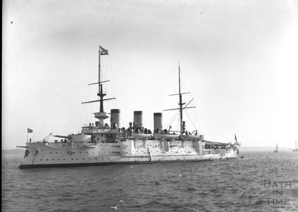 Unidentified warship, c.1900s