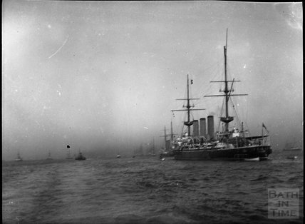 Convoy of steam ships, c.1900s