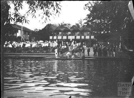 Rowing event on the Avon, Bathwick, c.1900