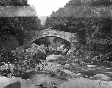 The River Lledr at Pont ar Ledr,  near Betws y Coed, Wales c.1900s