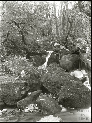 Unidentified waterfall, possibly on the Lyn near Lynmouth, c.1900s