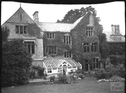 Rear elevation of an unknown house, c.1900s