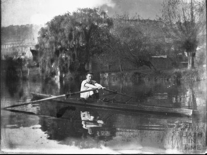 Rowing on the Avon, Bathwick, c.1900s
