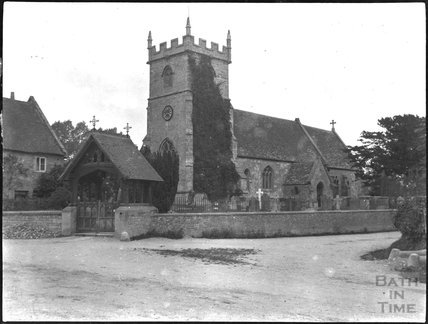 St Mary the Virgin, Wylye: Church and Lych Gate, c.1900s