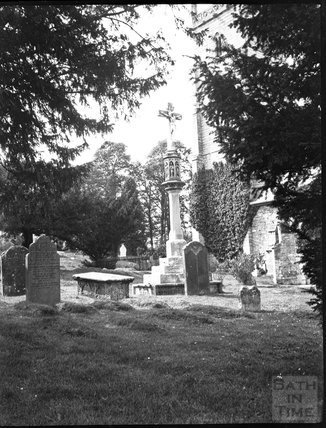 Churchyard cross at St Mary the Virgin Church, East Brent, c.1900s
